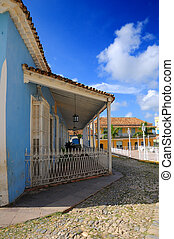 Tropical house - Trinidad, cuba - Detail of typical vintage...
