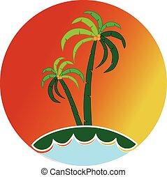 Tropical icon logo