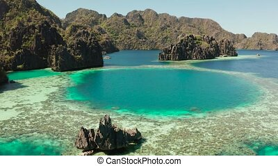 Tropical island Busuanga, Palawan, Philippines. - Aerial...