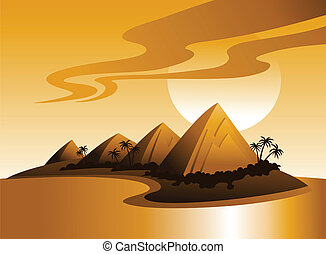Tropical Island Illustration - Vector illustration of a...