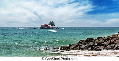 tropical island in Ocean.