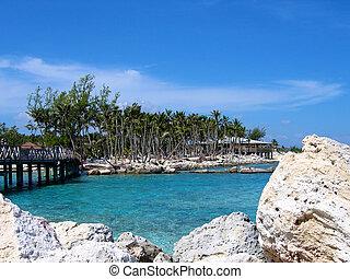 Tropical island lagoon