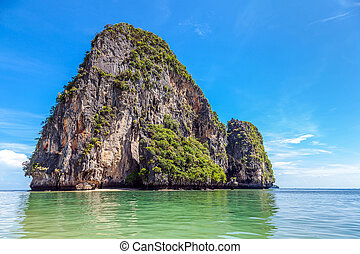 Tropical island of the Andaman Sea in Thailand
