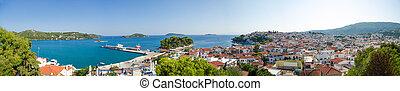 Tropical island panorama view - Island of Skiathos in Greece...