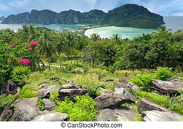 Tropical island paradise - Beautiful view on tropical island...