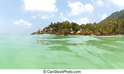 Tropical Island View From Water