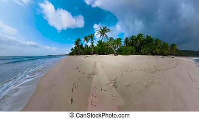 Tropical island with beach. Philippines.