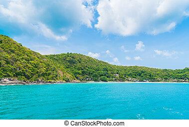 Tropical island with beach