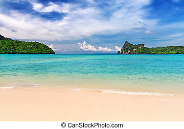 Tropical island with resorts - Phi-Phi island, Krabi...