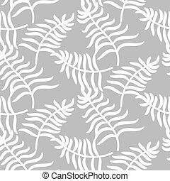 Tropical jungle palm leaves pastel color pattern.
