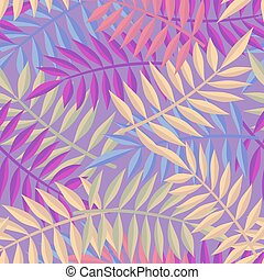 Tropical jungle palm tree leaf background