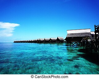 Tropical Kapalai Island Resort in Sabah Malaysia