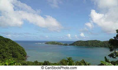 Tropical lagoon,sea, beach. Tropical island. Catanduanes,...