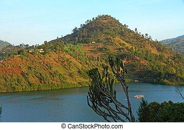 Tropical Lake Scene