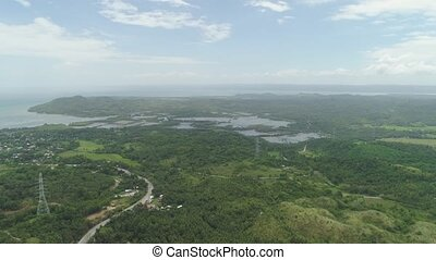 Tropical landscape. Philippines, Luzon. - Aerial view of...