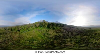 tropical landscape rainforest and mountains vr360 - aerial...