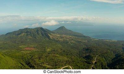 tropical landscape sea coast, mountains - Tropical...