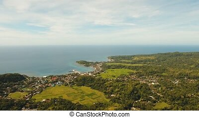 Tropical landscape sea,sky. Philippines - Aerial view of...