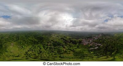 tropical landscape with rainforest Indonesia vr360 - aerial...