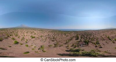 tropical landscape with volcano vr360 Bali, Indonesia. -...