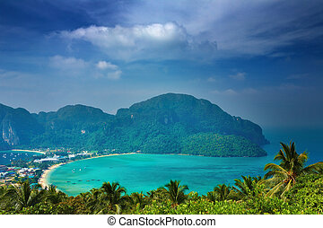 tropical landskap, thailand