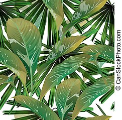 Tropical leaf background - tropical leaf background with...
