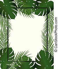 Tropical leaf frame