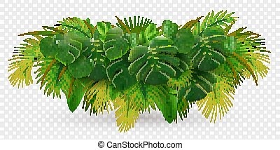 Tropical Leaves Bush Composition - Tropical leaves palm ...