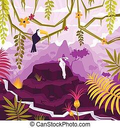 Tropical Liana Landscape Composition