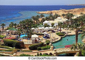 Tropical luxury resort hotel, Egypt. - SHARM EL SHEIKH,...