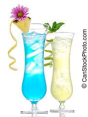 Tropical Martini cosmopolitan cocktail blue hawaiian