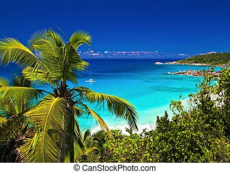 tropical melody - Dream seascape view, Seychelles, La Digue ...