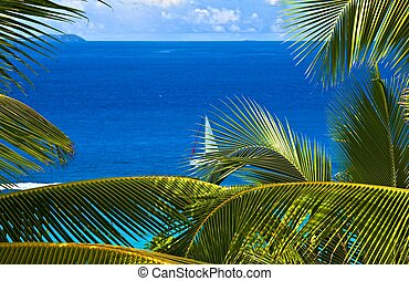 tropical melody - Dream seascape view, Seychelles, La Digue ...