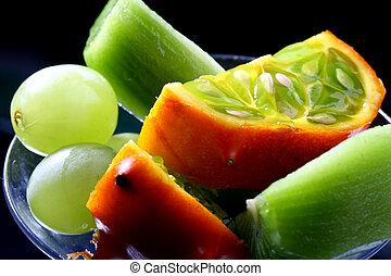 tropical mix - tropical fruit mix macro close up background