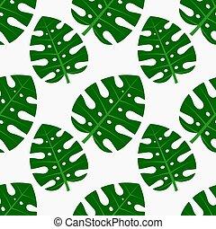Tropical monstera leaf seamless pattern