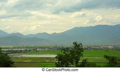 Tropical Mountain Range Landscape Scene Central Vietnam -...