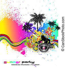 Latin Disco Event Background for Flyers