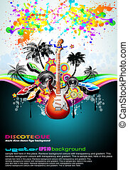 Tropical Music Event Disco Flyer