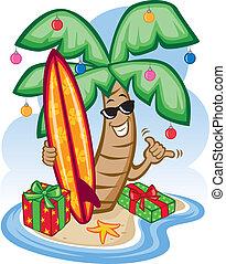 tropical, navidad