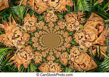 Tropical palm kaleidoscope