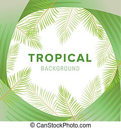 Tropical palm leaves, jungle leaf vector floral pattern background.