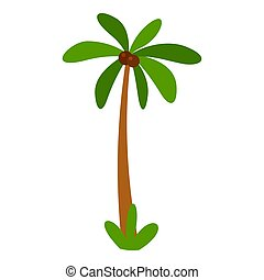 Tropical palm tree icon, flat style