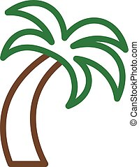 Tropical Palm tree vector