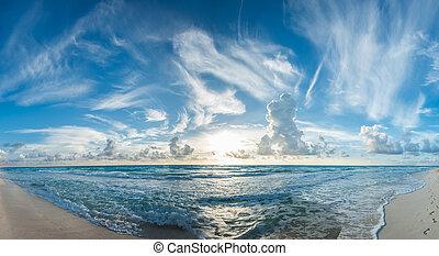 tropical, panorama, playa