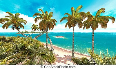 Tropical paradise beach in Caribbean