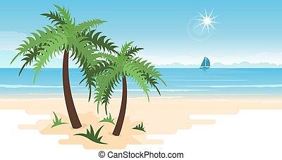 Tropical paradise Vector Clip Art EPS Images. 70,629 ...