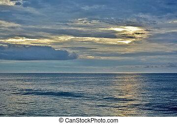 Tropical Paradise Sunrise Over the Sea