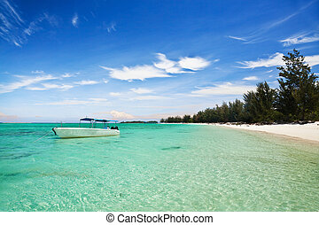 Tropical beach at Matanani island in Sabah, Malaysia