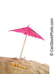 tropical, parasol