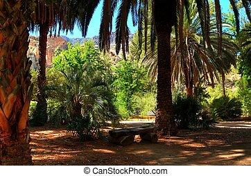 tropical, parque